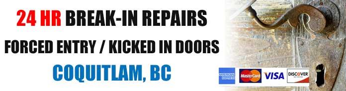 Break-in & burglary repairs in Coquitlam